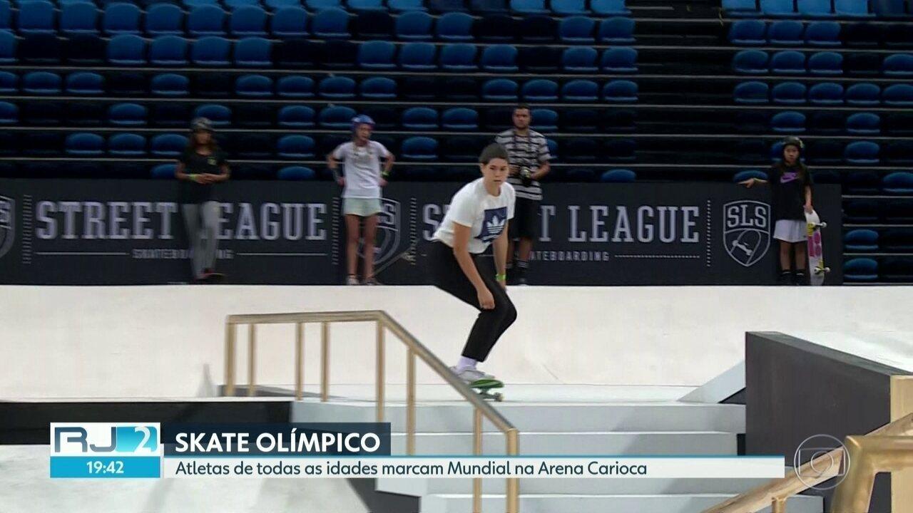Mundial de skate street anima Arena Carioca no Rio de Janeiro