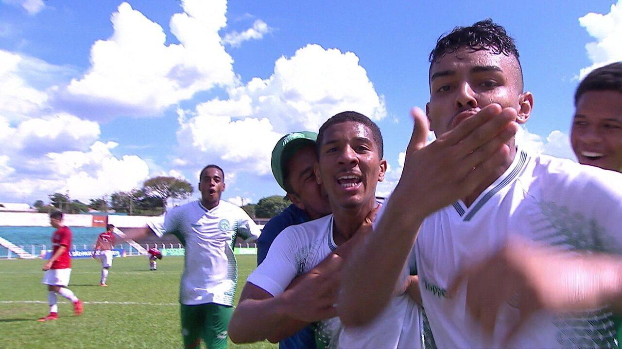 Os gols de Internacional 0 x 5 Guarani pela terceira fase da Copa SP de Futebol Júnior