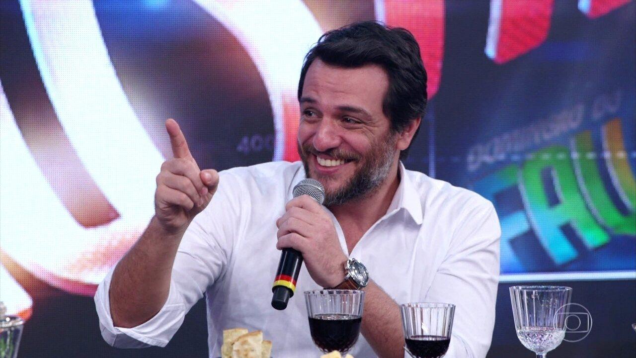 Rodrigo Lombardi relembrou participação em quadro do 'Domingão'