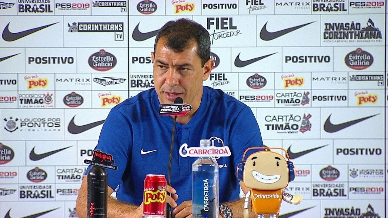 Fábio Carille analisa o empate do Corinthians com o Santos