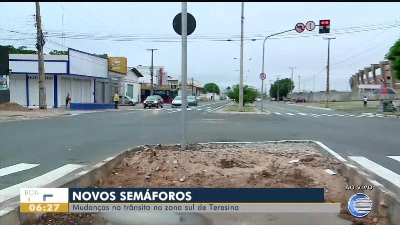 Novos semáforos trazem mudanças no trânsito na Zona Sul de Teresina