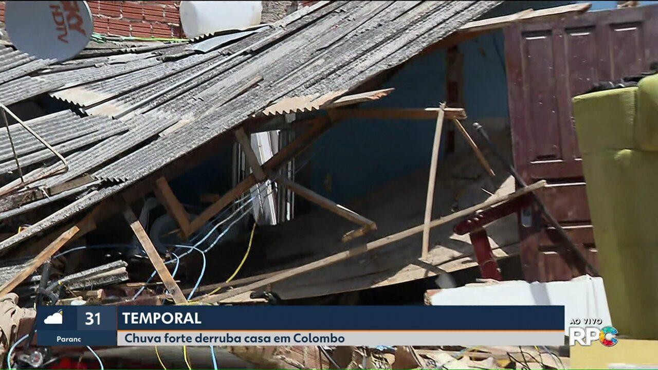 Homem desaparece e casa desaba depois de chuva em Colombo