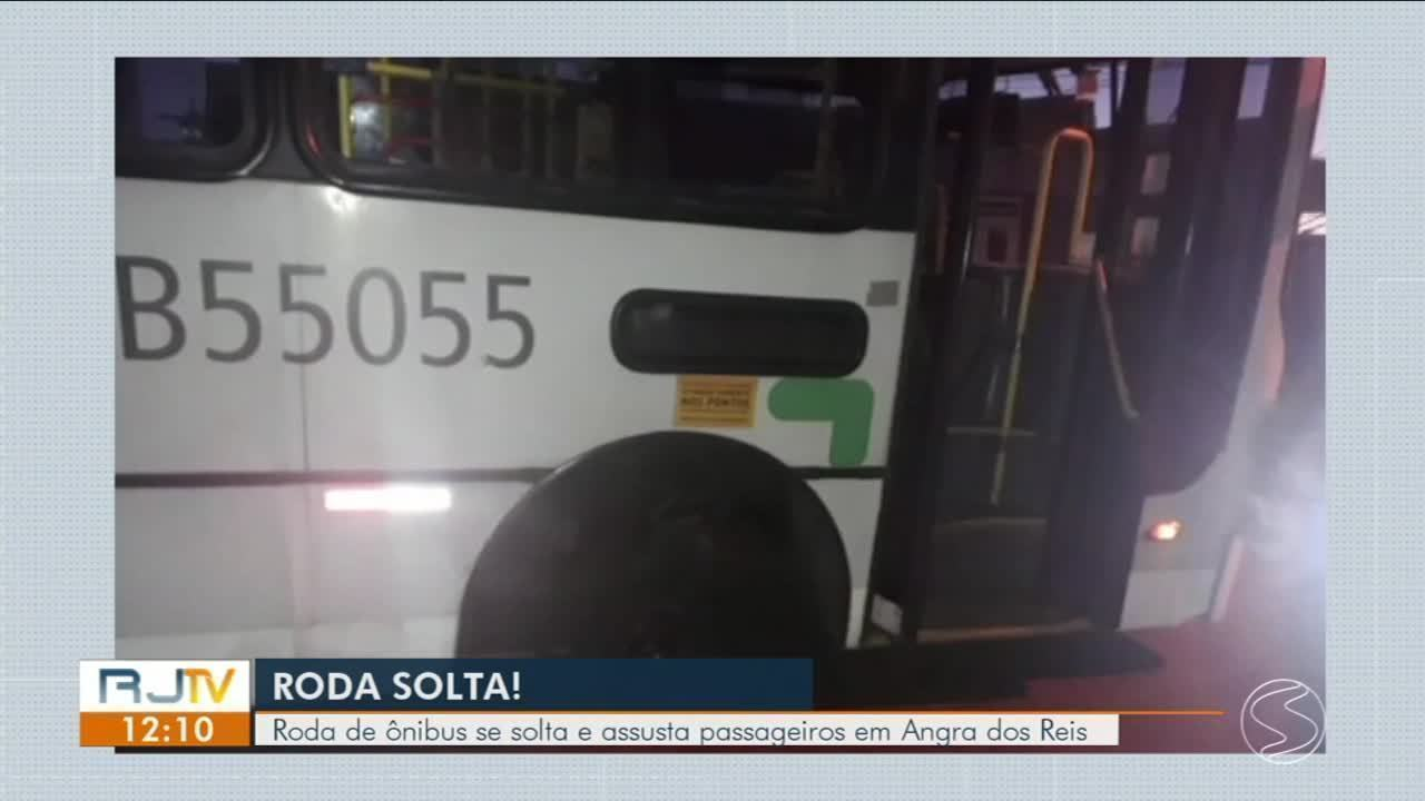 Pela segunda vez, roda de ônibus municipal se solta em Angra