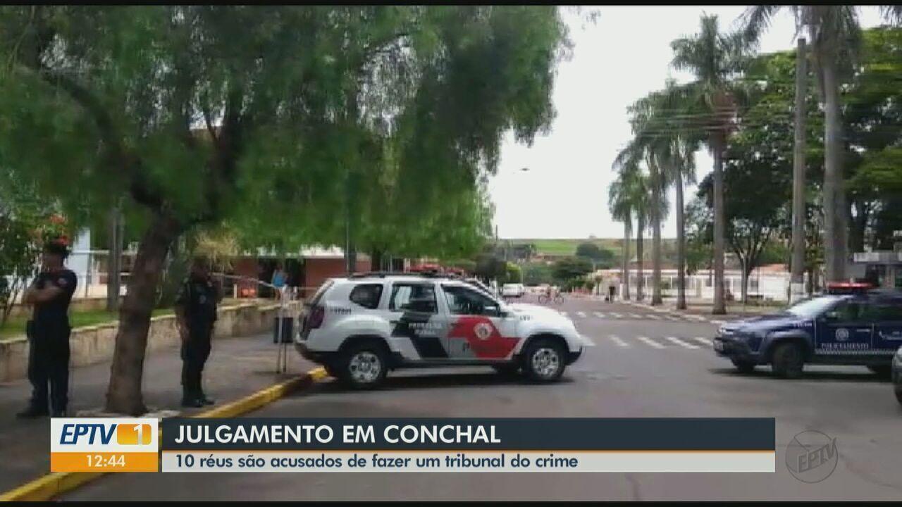 Acusados de integrar uma facção criminosa são julgados em Conchal