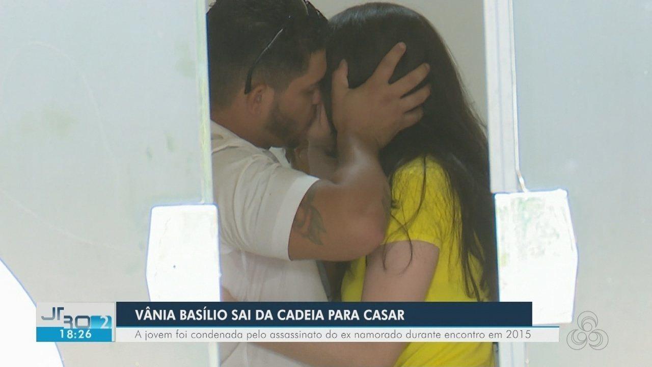 Vânia Basílio sai de presídio para casar