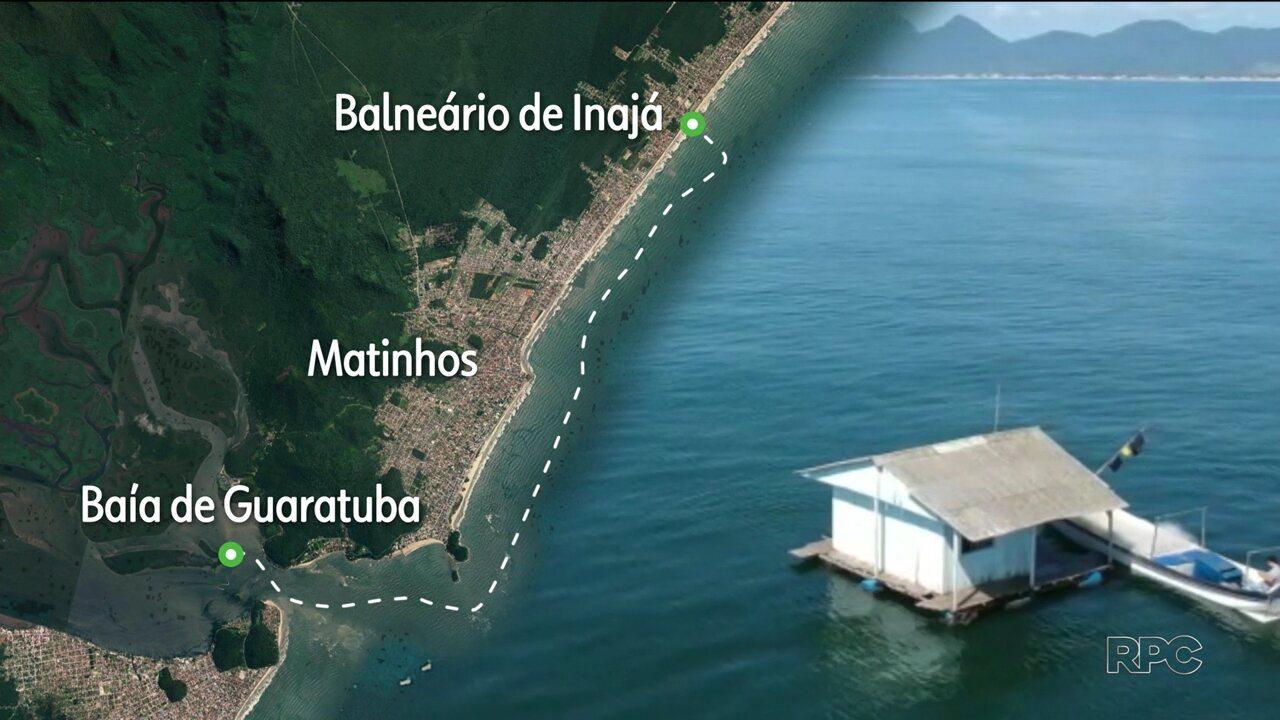 Casa é avistada à deriva no mar de Matinhos