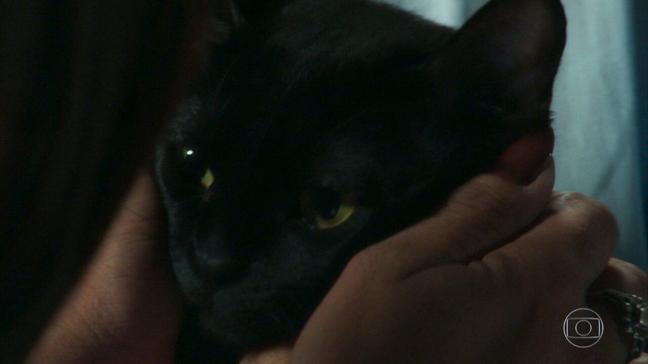 León lembra de mulher misteriosa ao encontrar Neide