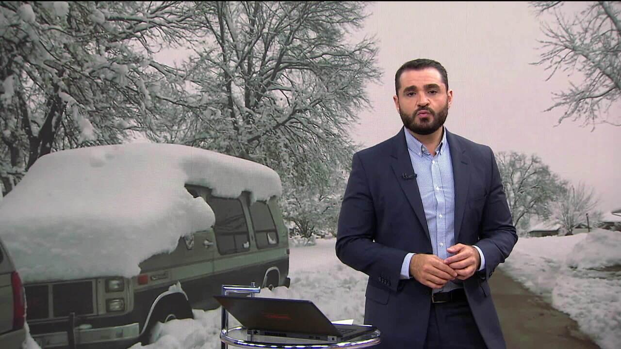 Nevascas atingem os Estados Unidos durante o fim de semana