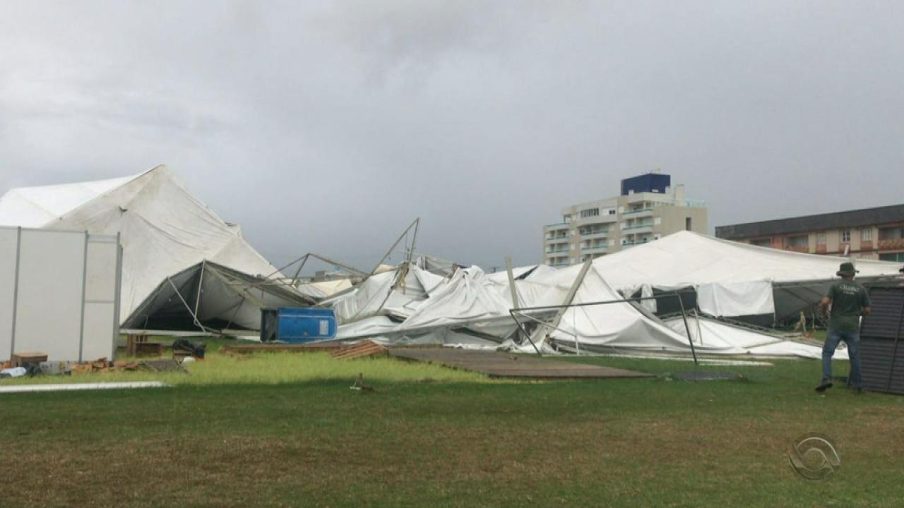 Temporal e ventania causam estragos em Pelotas