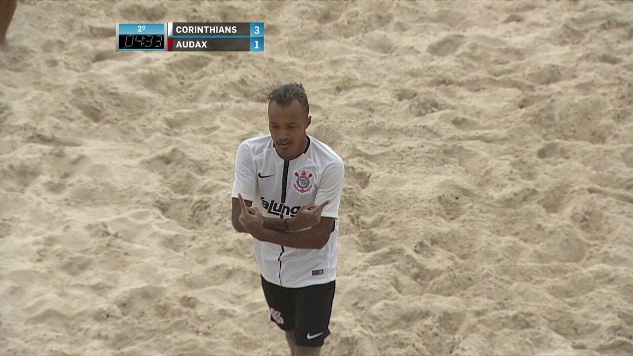 Os gols de Corinthians 6 x 5 Audax pela fina do Paulistão de Futebol de Areia
