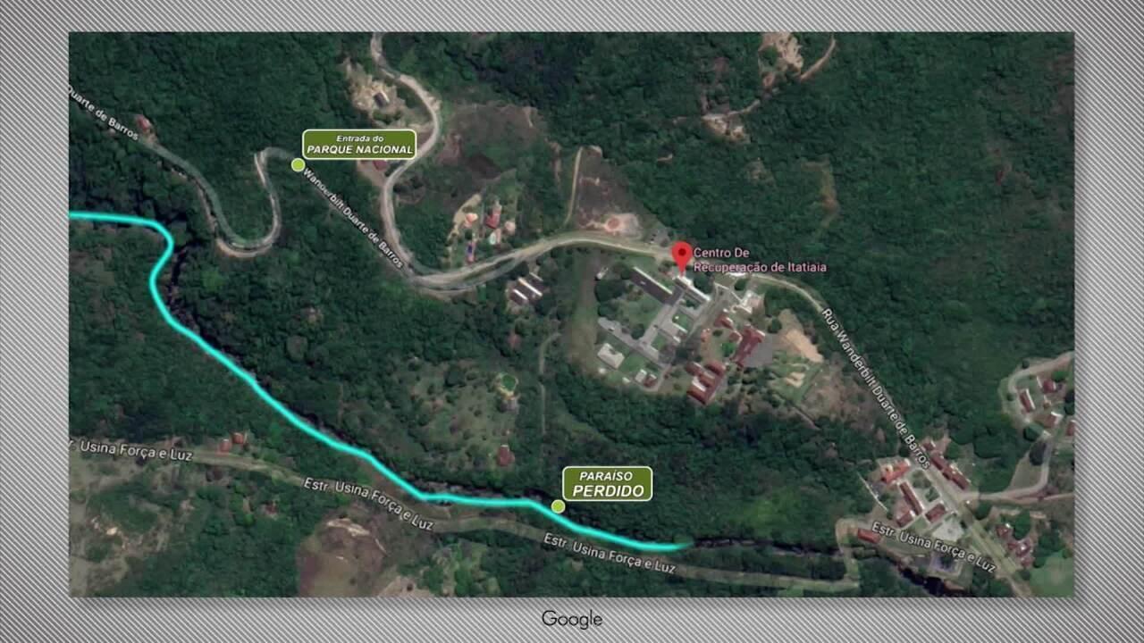 Veja qual foi o caminho percorrido pela água durante cabeça d'água em Itatiaia