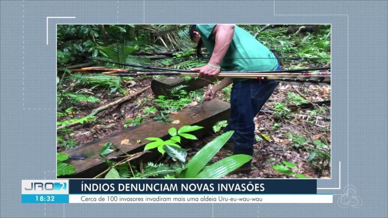 Novas invasões em aldeias Uru-eu-wau-wau