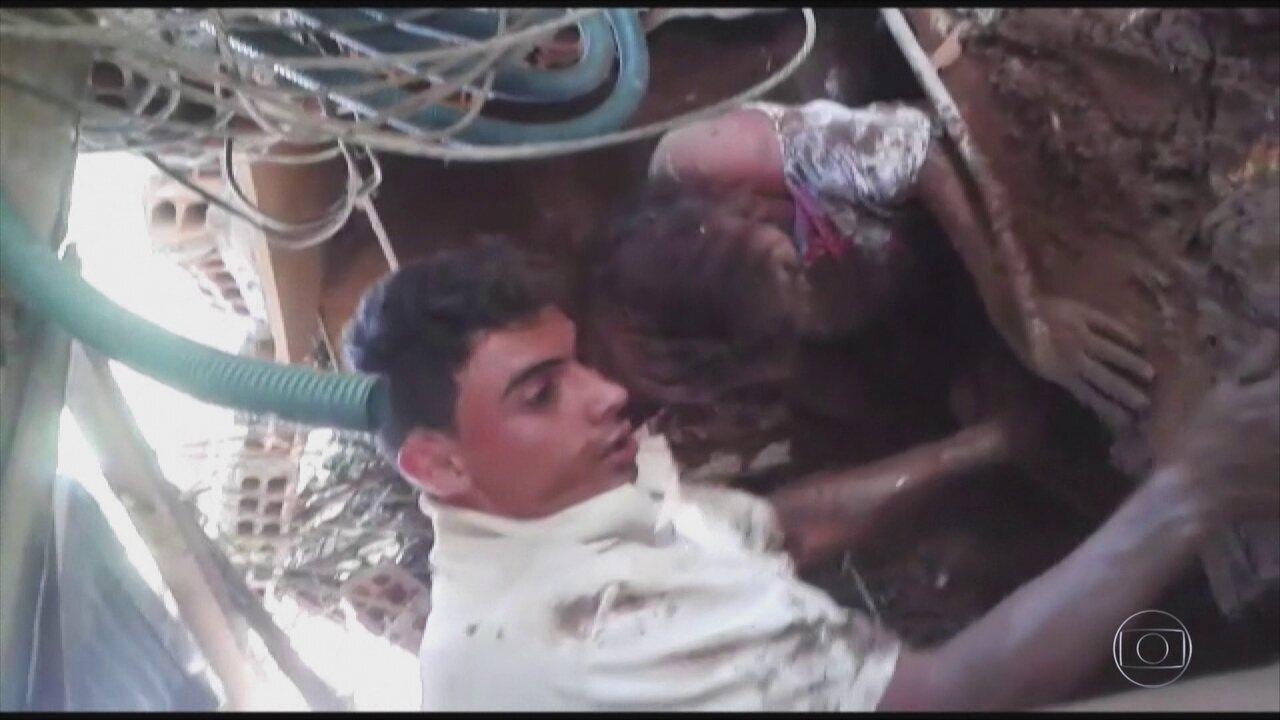 Marido conta como resgatou esposa da lama em Brumadinho