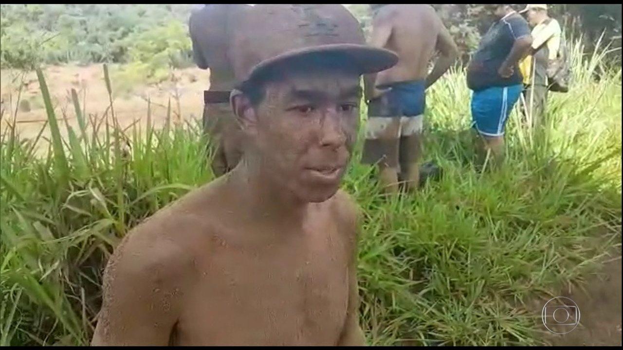 Vizinhos que salvaram Alessandra de Thalyta ficaram cobertos de lama; funcionários da pousada, eles perderam pessoas próximas