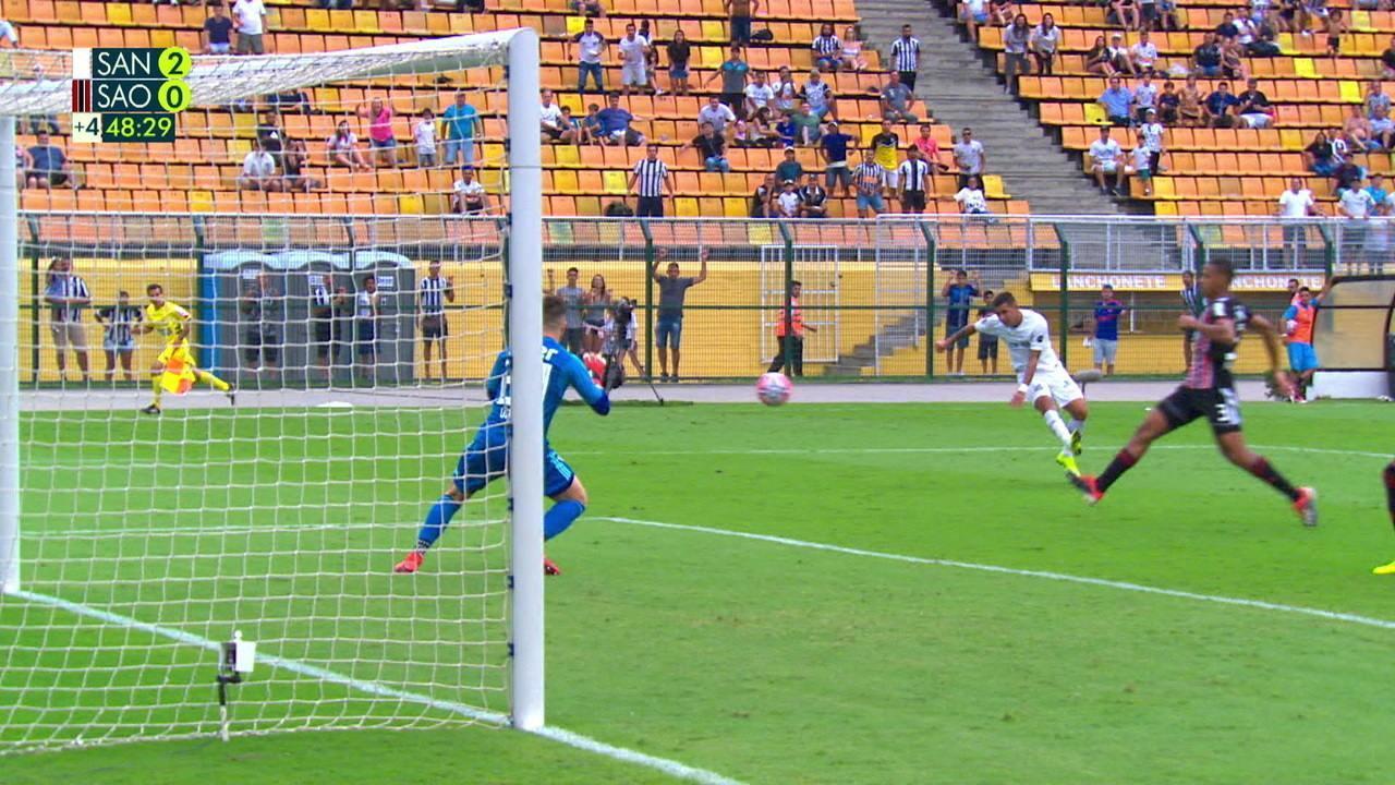 Os melhores momentos de Santos 2 x 0 São Paulo pelo Campeonato Paulista
