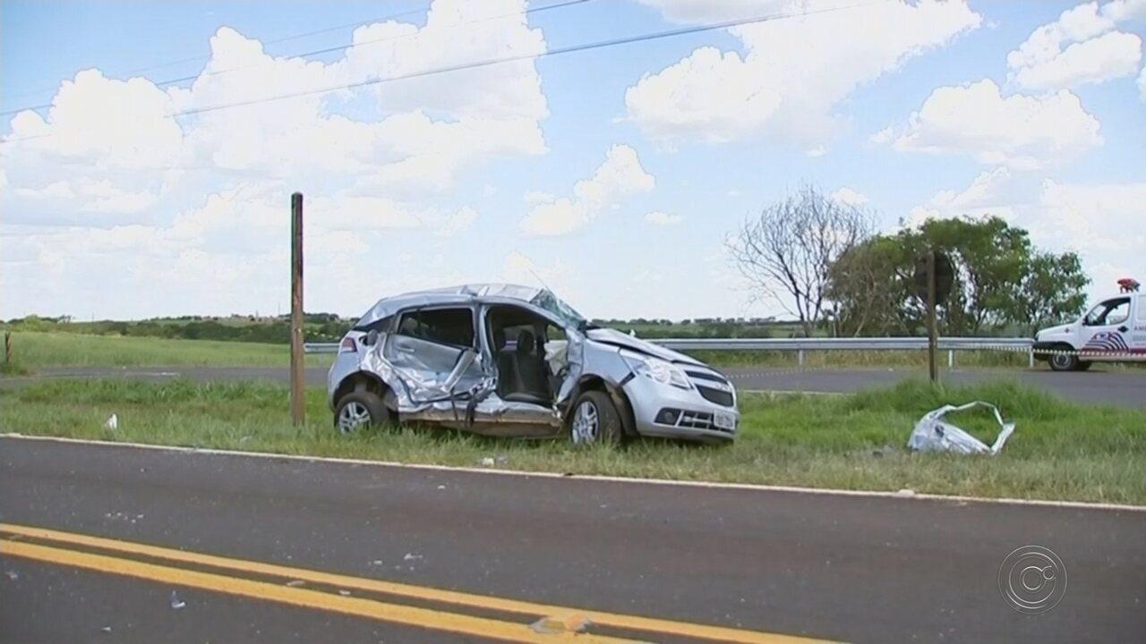 Casal morre em acidente entre carro e caminhão no trevo de acesso a Elisiário
