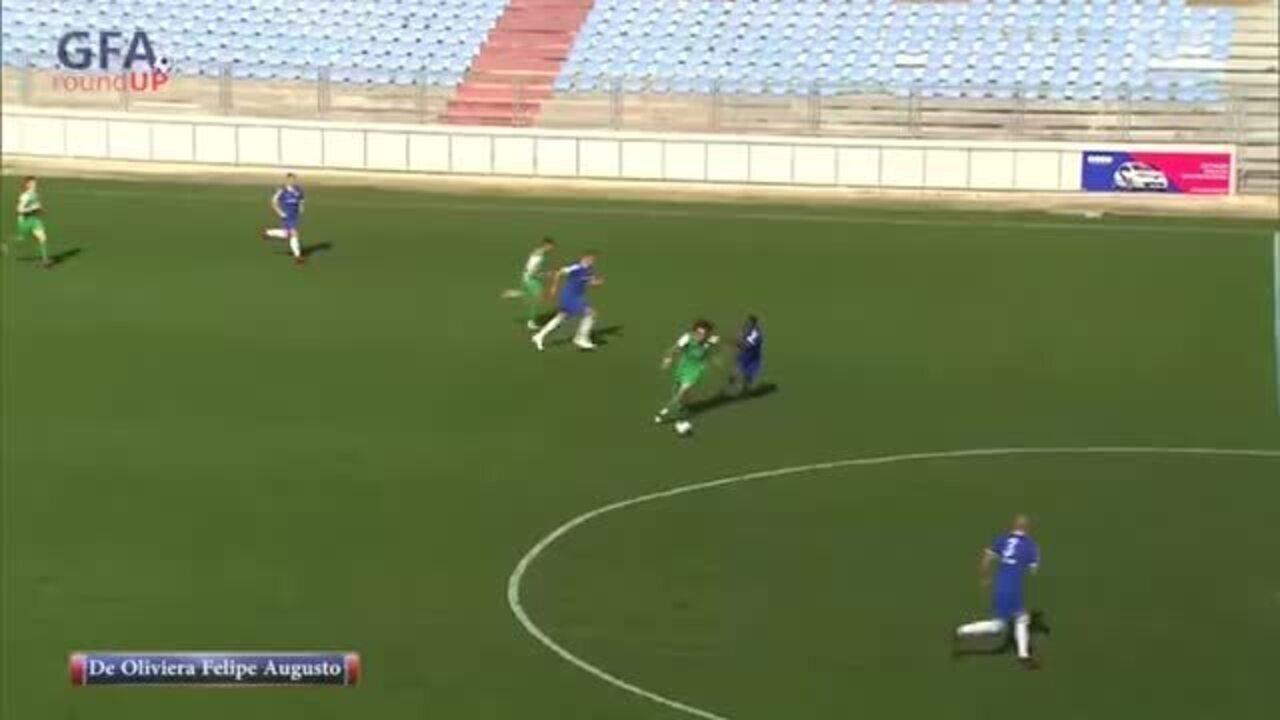Felipe Augusto faz gol do meio de campo pelo Kerċem Ajax