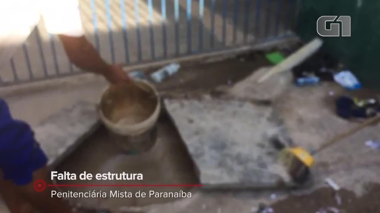 Presos limpam fossas e carregam baldes com fezes em penitenciária de Parnaíba