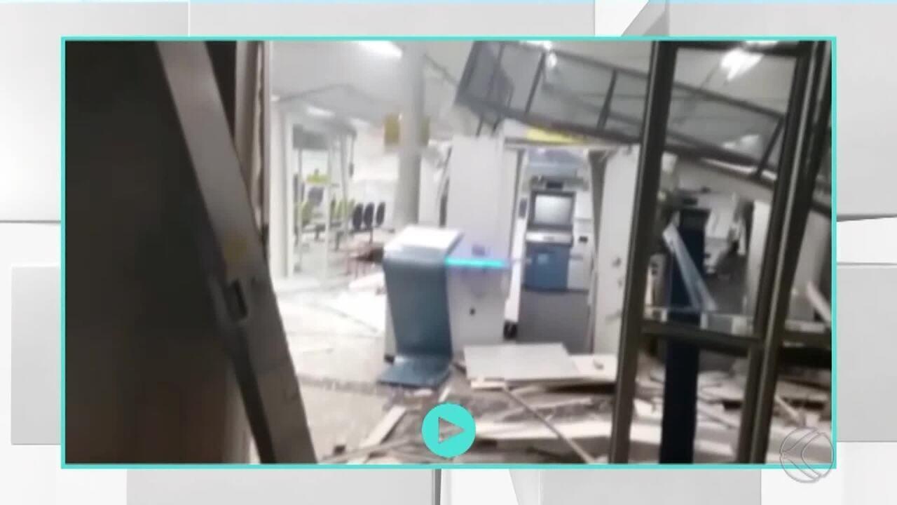Ladrões explodem agência bancária em Andrelândia