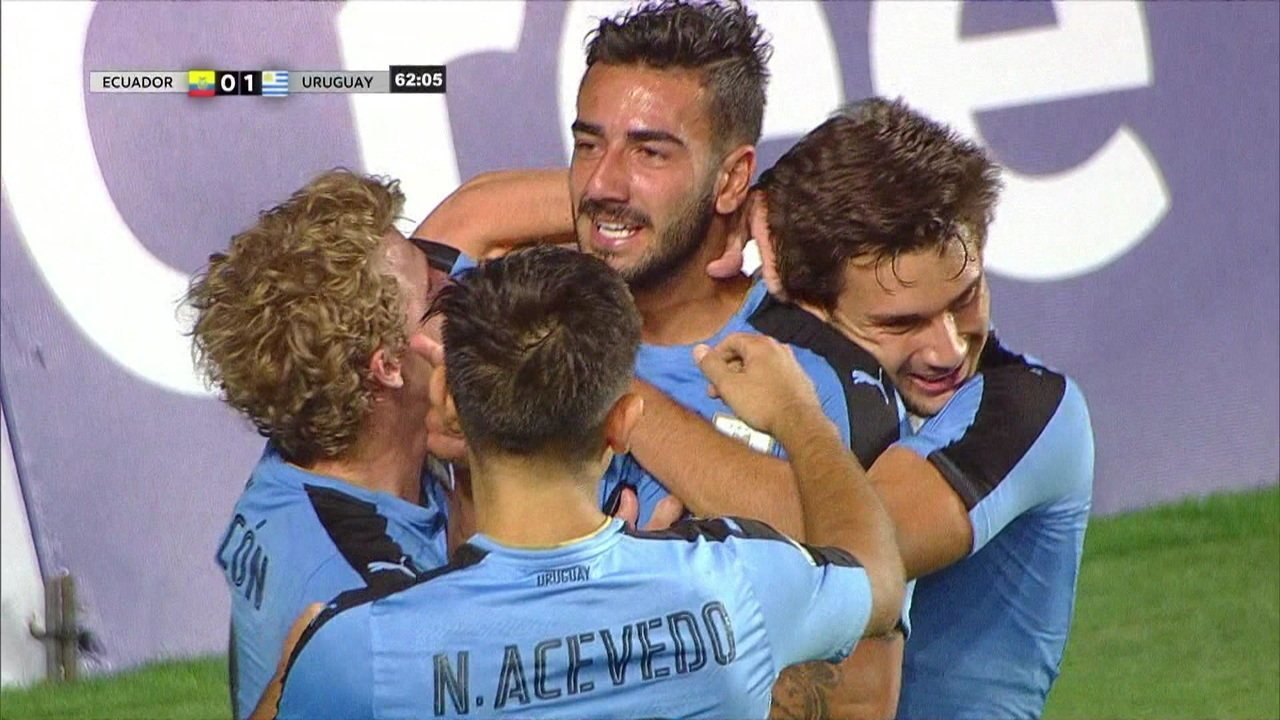 O gol de Equador 0 x 1 Uruguai pelo Campeonato Sul-Americano Sub-20