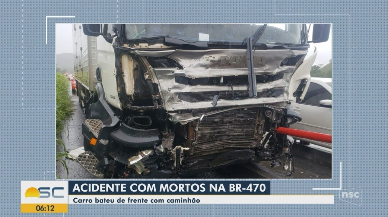 Quatro pessoas morrem em acidentes na BR-470, no Vale do Itajaí