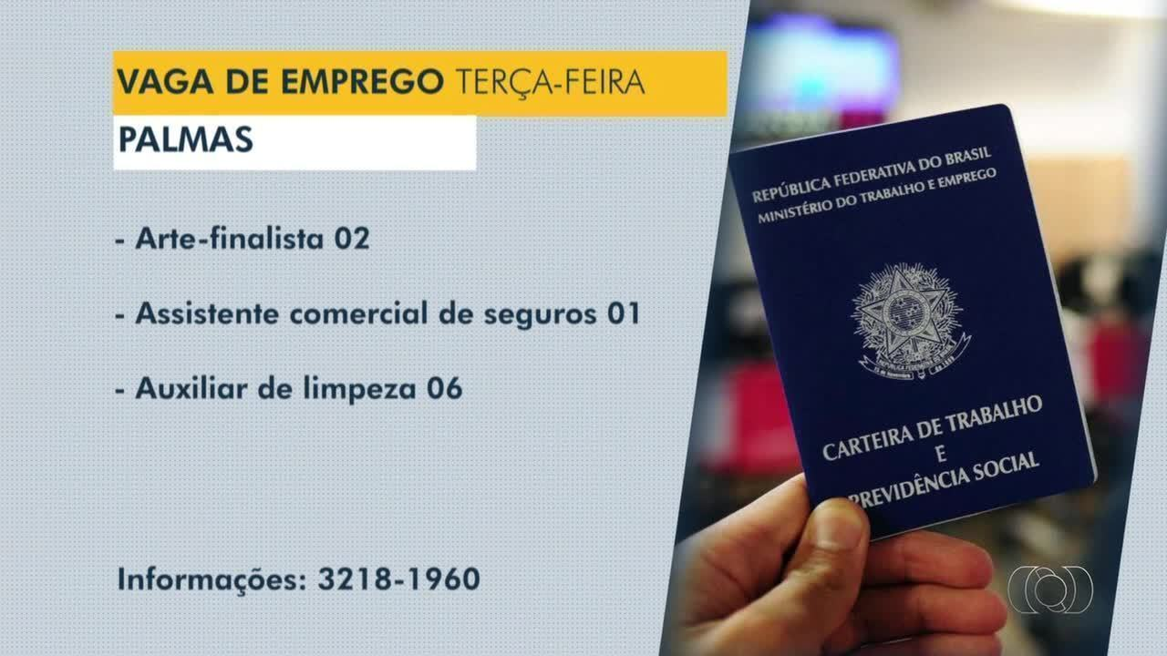 Confira as vagas de emprego disponíveis em Palmas, Porto Nacional e Gurupi