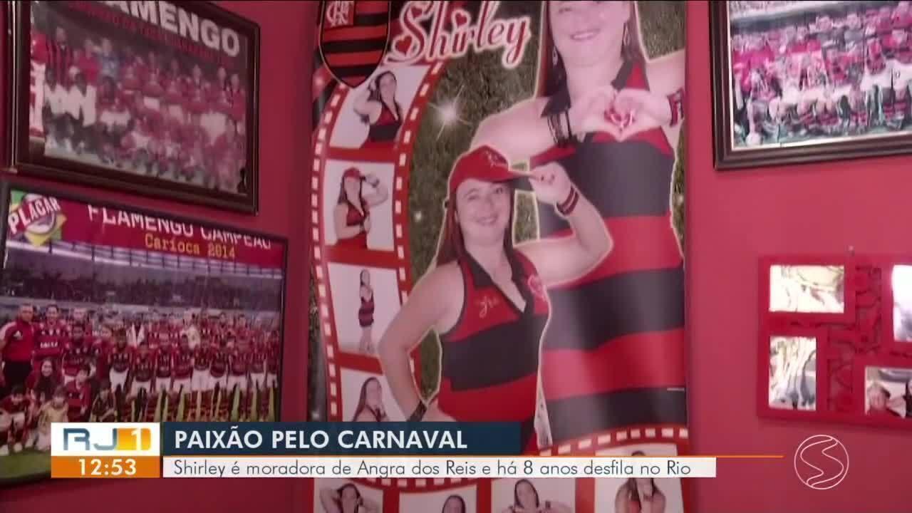 Resultado de imagem para Carnaval: Shirley é moradora de Angra dos Reis e há 8 anos desfila no Rio