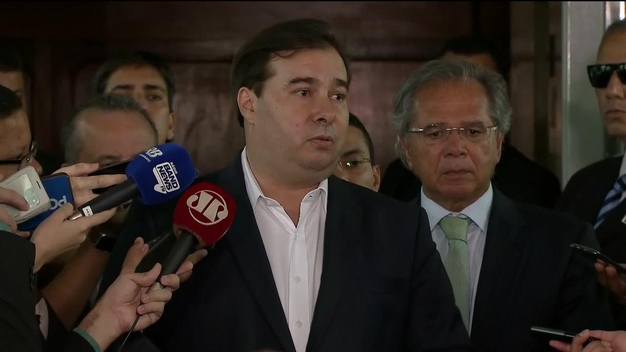 Maia e Guedes discutem reforma da Previdência