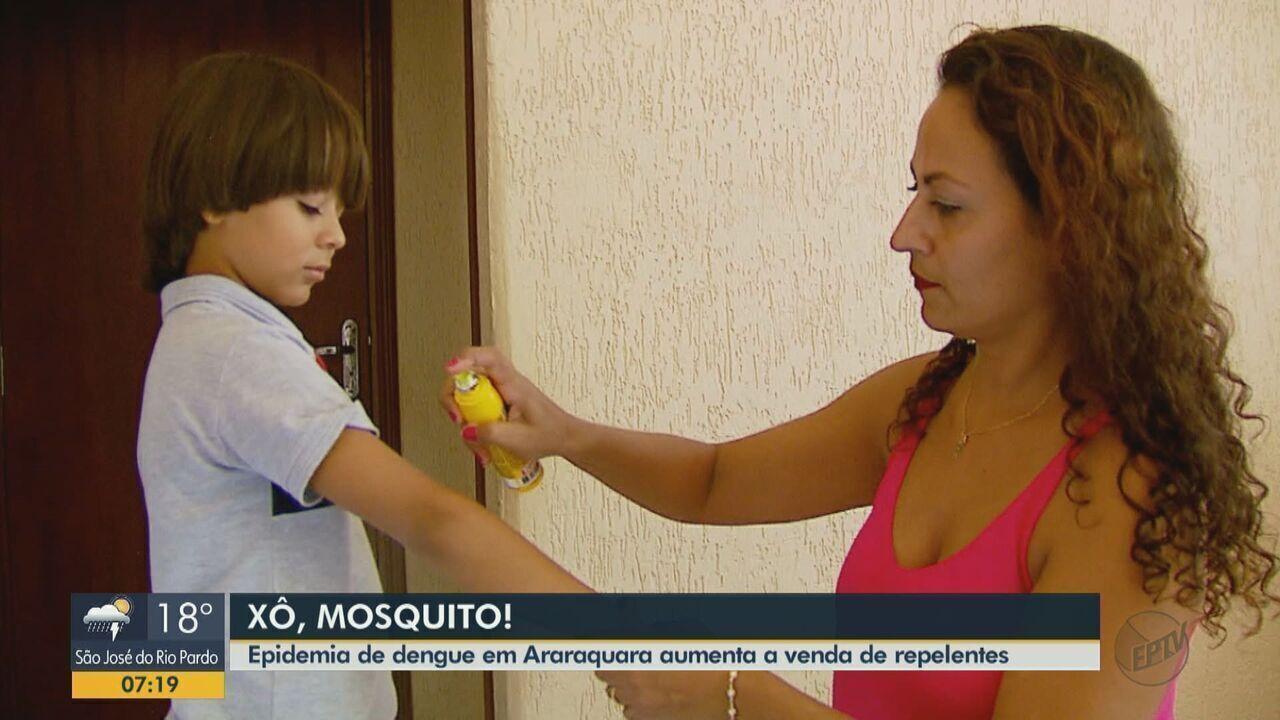 Epidemia de dengue faz a procura por repelentes e inseticidas aumentar em Araraquara