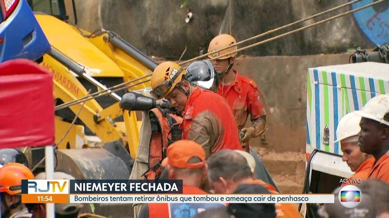Uma das vítimas do acidente com o ônibus na Avenida Niemeyer já foi identificada