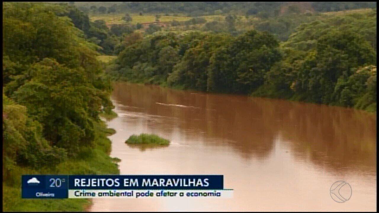 Rejeitos de lama são encontrados em trecho do Rio Paraopeba em Maravilhas