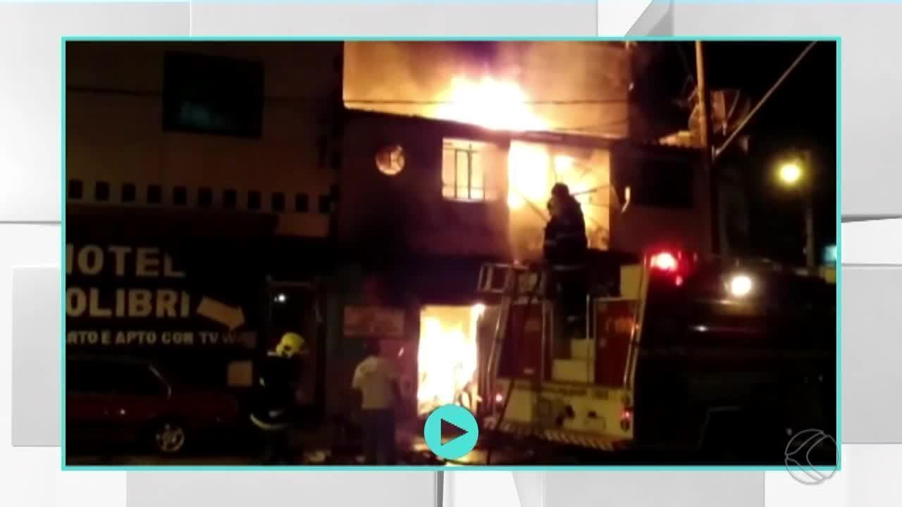 Incêndio em casa mobiliza equipes dos Bombeiros em São João del Rei