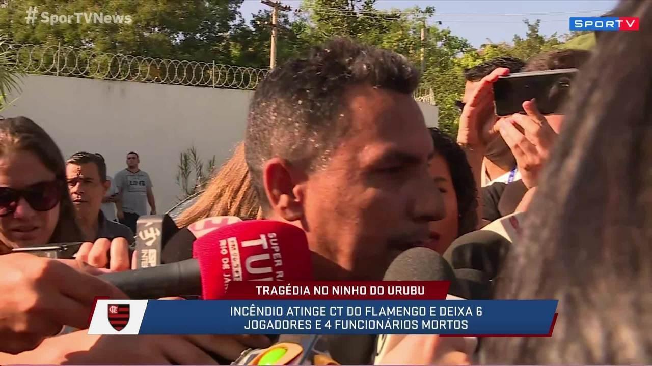 """""""Ele está chorando muito. Não consegue nem falar"""", diz pai de sobrevivente do incêndio"""