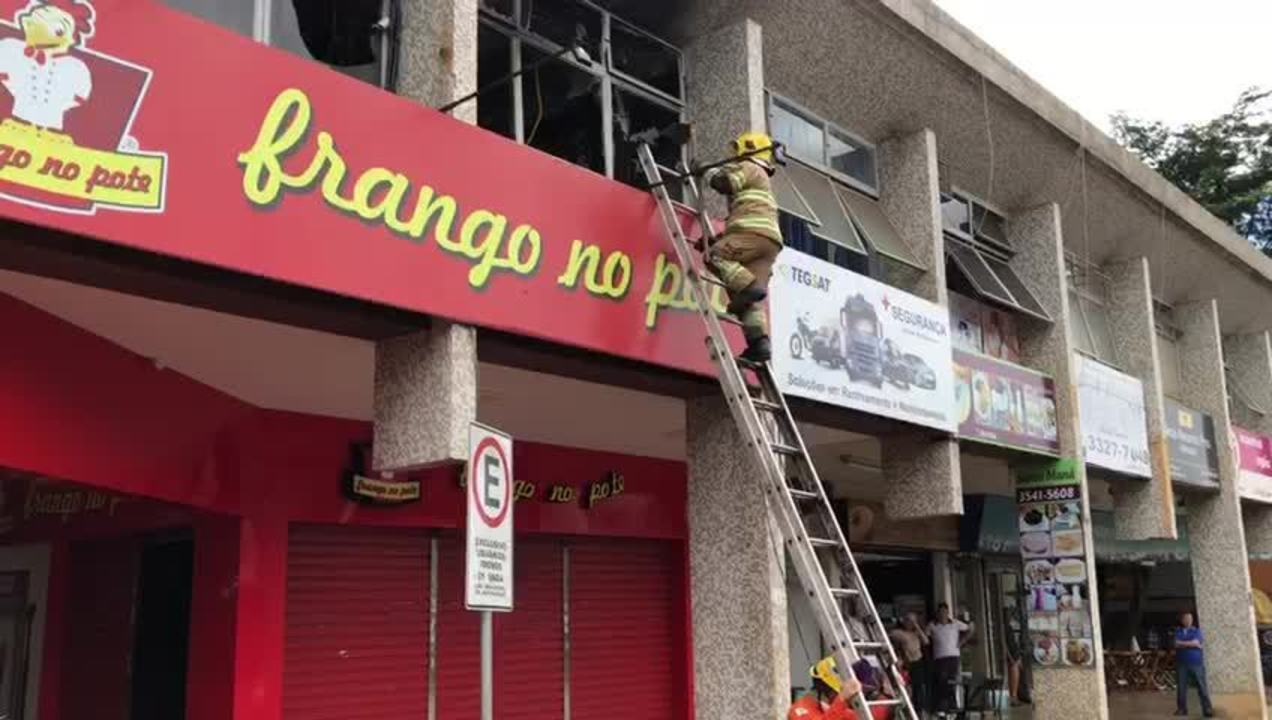 Resultado de imagem para Explosão em ar condicionado provocou incêndio em prédio comercial na 104 Norte