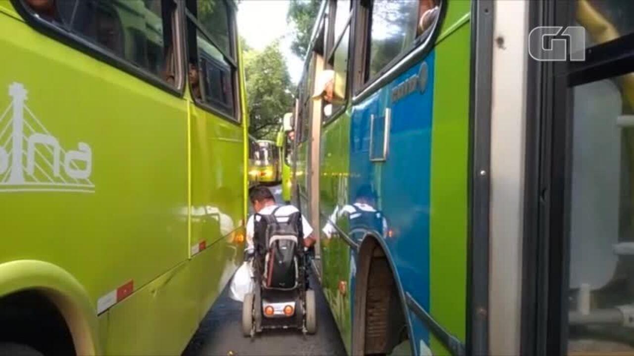 Motoristas fazem operação tartaruga e causam muitos transtornos a passageiros