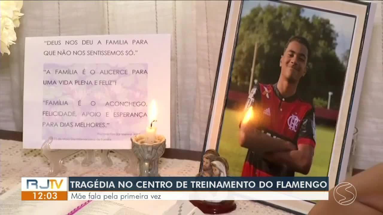 Mãe de Arthur Vinícius, vítima do incêndio no CT do Flamengo, fala pela primeira vez