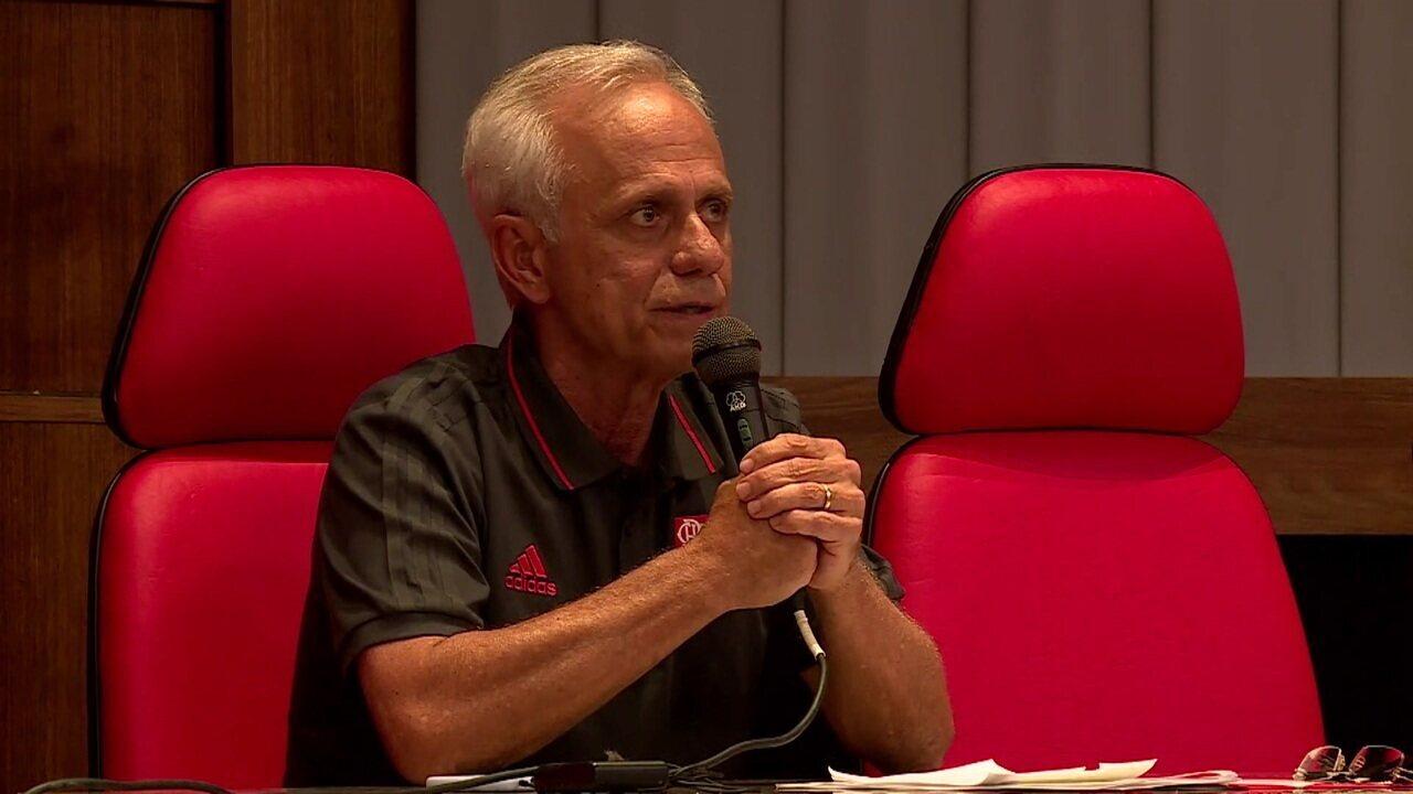 Confira na íntegra a coletiva de Reinaldo Belotti, CEO do Flamengo, sobre o incêndio no CT do clube