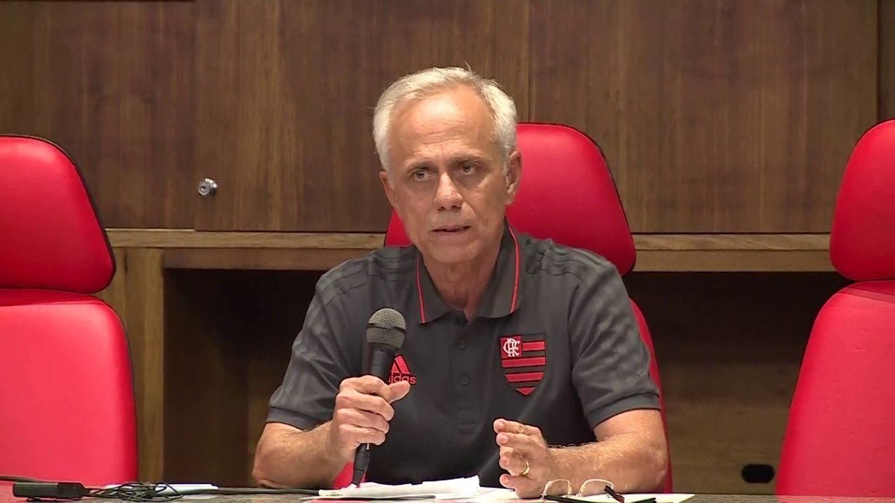 Assista à íntegra do pronunciamento do dirigente do Flamengo