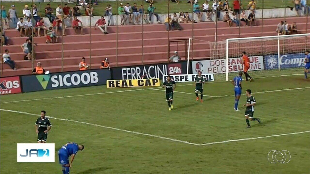 Os gols da vitória do Goiás sobre o Iporá por 2 a 1