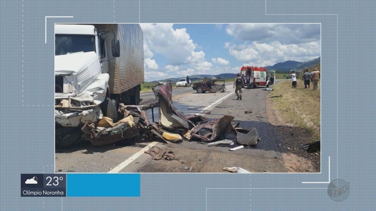Acidente deixa uma pessoa morta na BR-459, em Ipuiúna (MG)