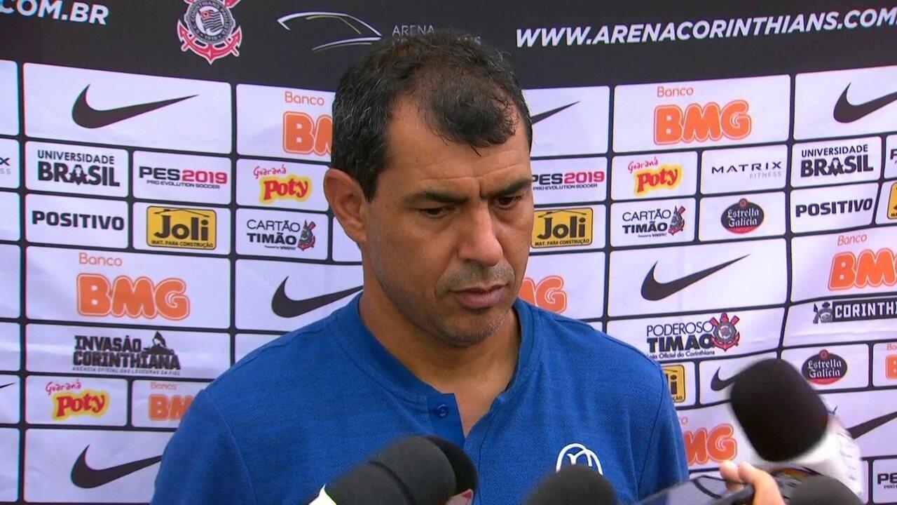 Veja trecho da entrevista coletiva de Fábio Carille após derrota do Corinthians