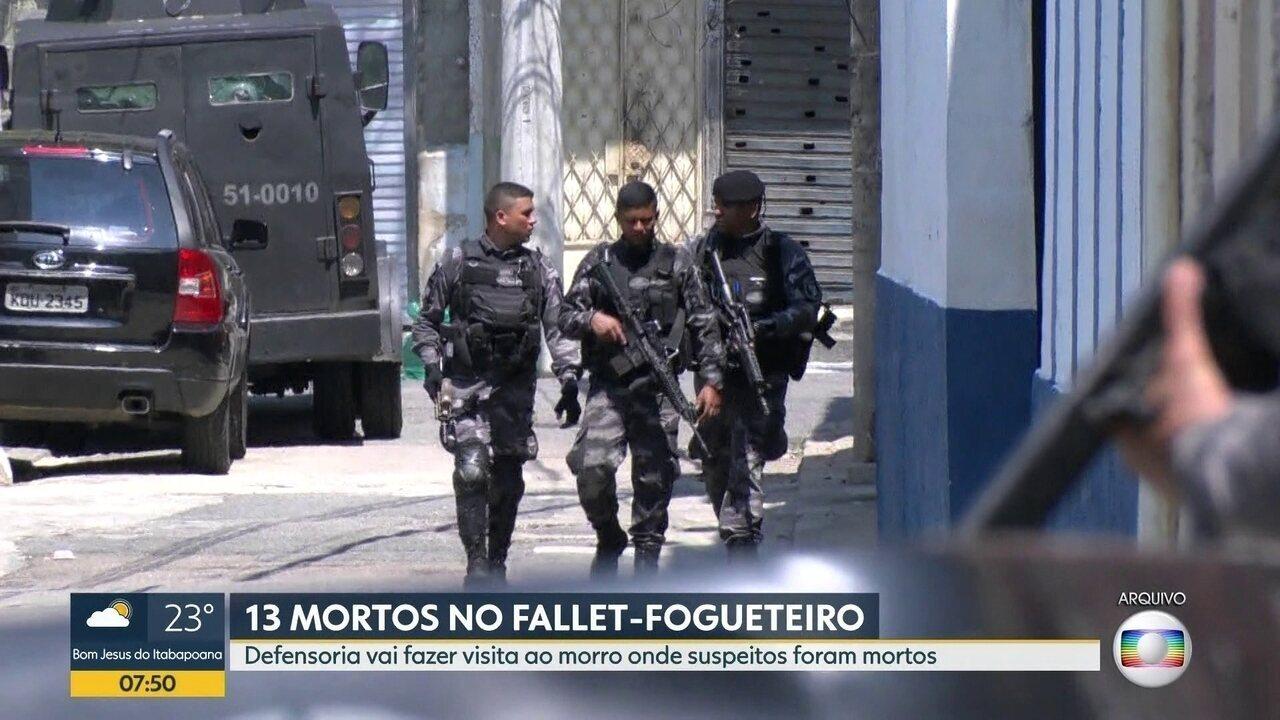 Defensoria Pública vai visitar o morro do Fallet-Fogueteiro,onde 13 suspeitos foram mortos