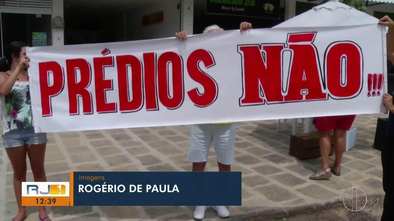 Moradores protestam contra construção de conjunto habitacional em bairro de Teresópolis