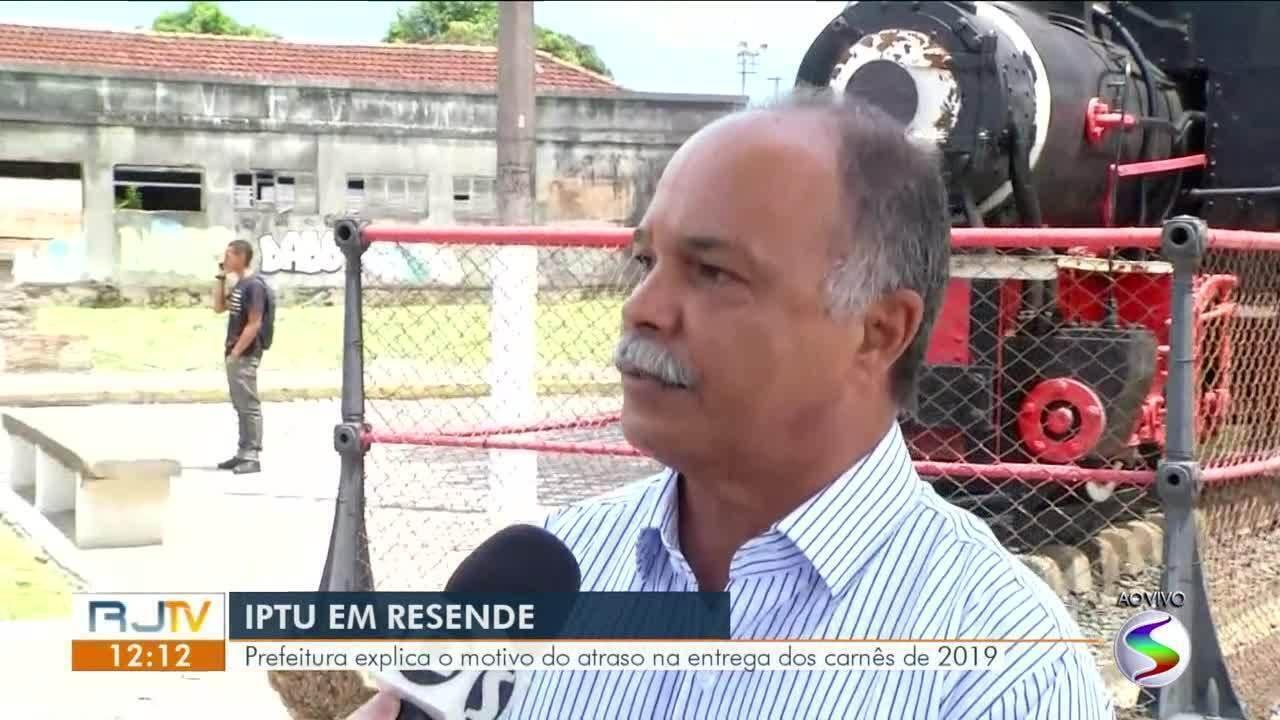 IPTU em Resende: prefeitura explica motivo do atraso na entrega dos carnês de 2019