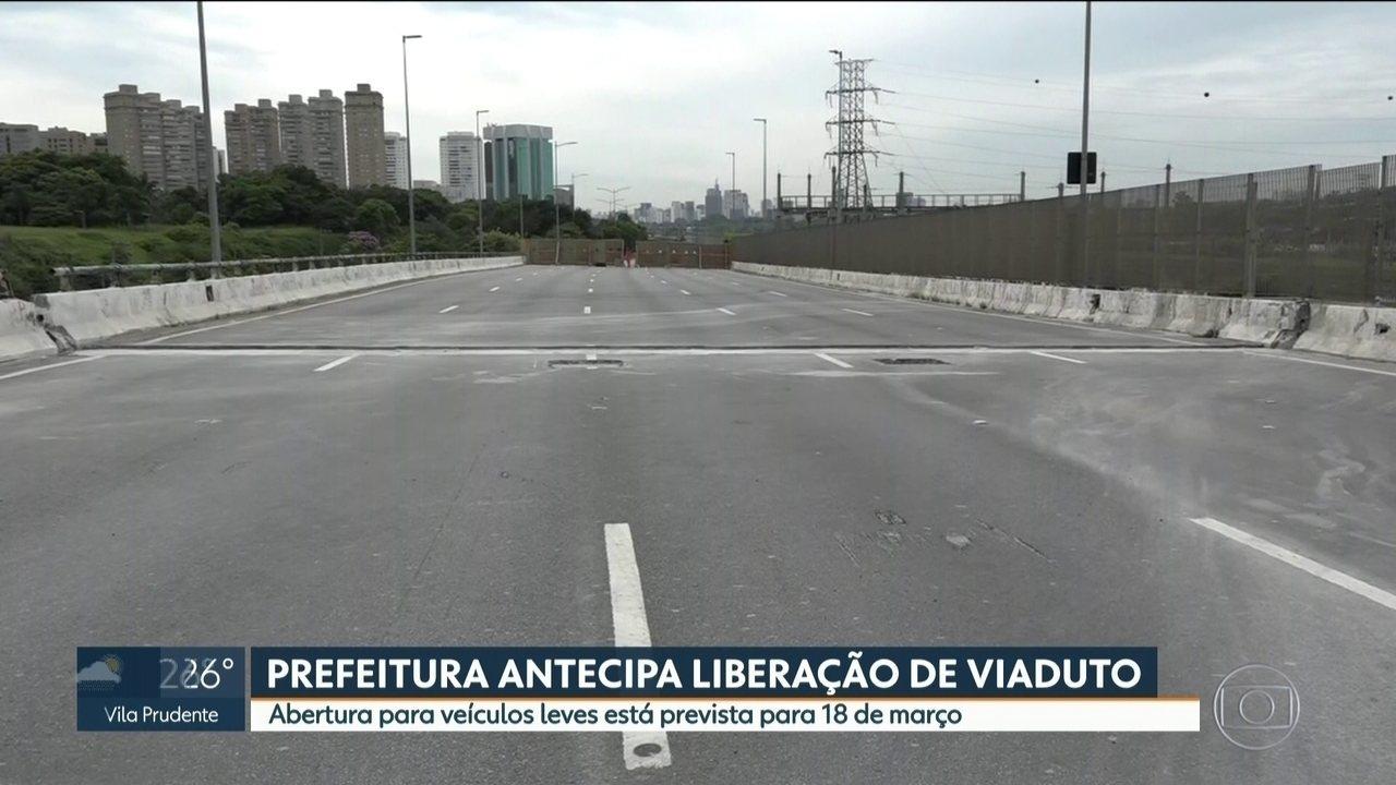 Prefeitura antecipa liberação de viaduto que cedeu na Marginal Pinheiros