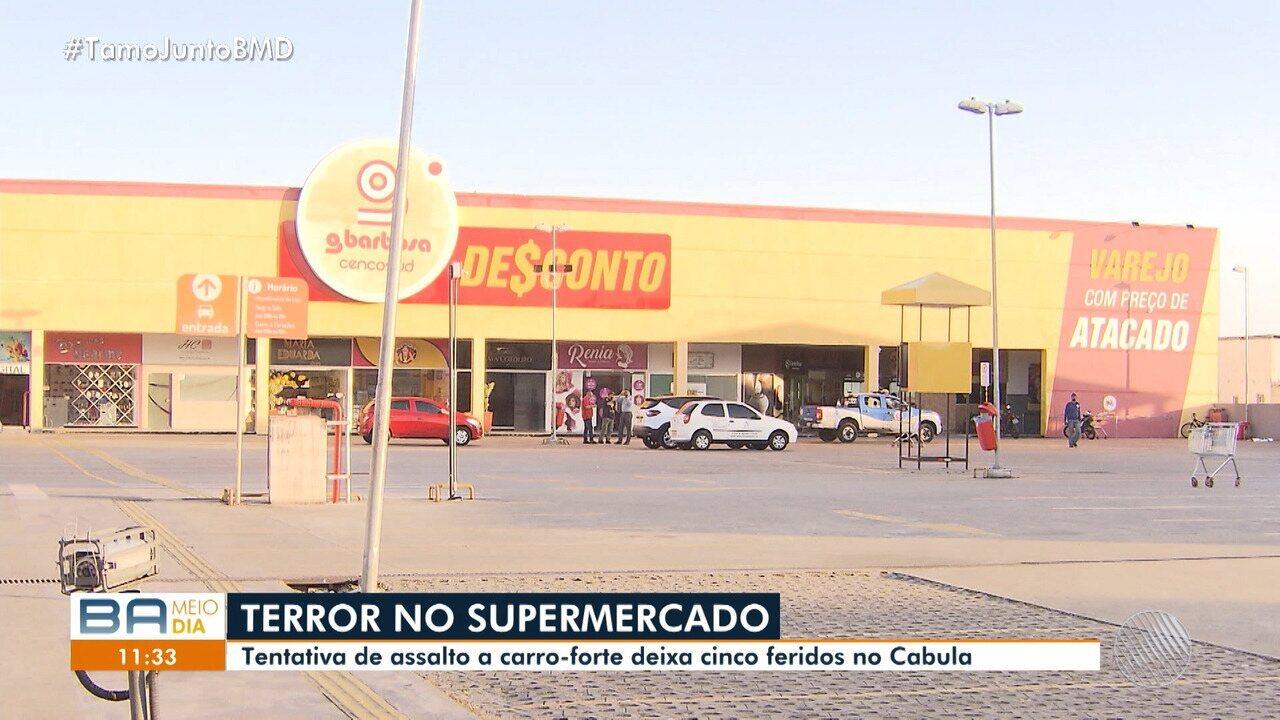 Tentativa de assalto a carro-forte deixa feridos no bairro do Cabula, em Salvador
