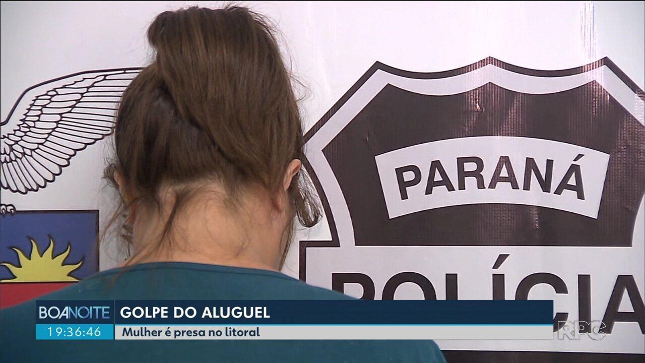 Polícia prende mulher suspeita de aplicar o golpe do falso aluguel