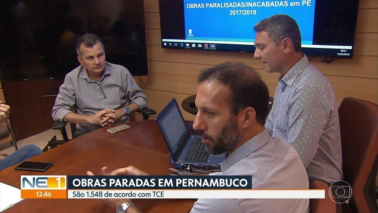Tribunal de Contas aponta que Pernambuco tem mais de 1.500 obras paralisadas