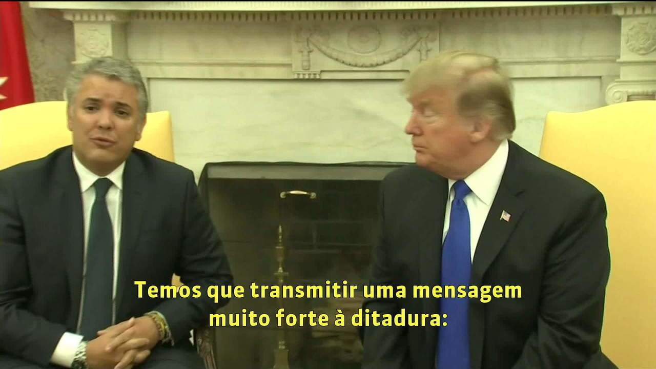 Crise na Venezuela: Trump não descarta envio de tropas à Colômbia