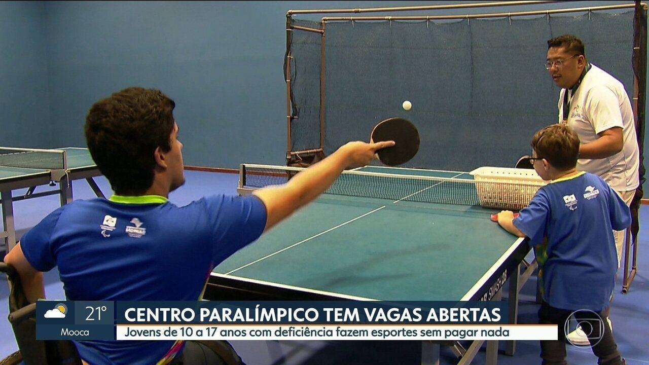6f75d9db57 Ainda há vagas para jovens com deficiência fazerem esporte no Centro  Paralímpico